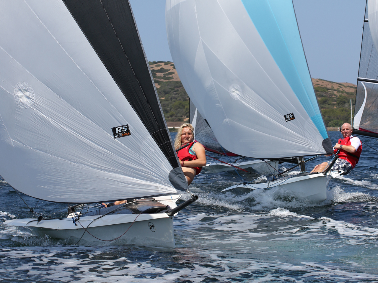 RS100 racing at Minorca Sailing