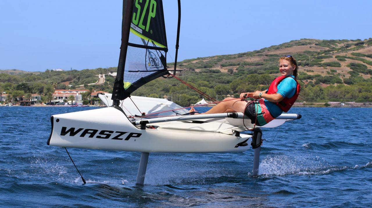 The Waszp is great fo a Foiling Sailing Holiday