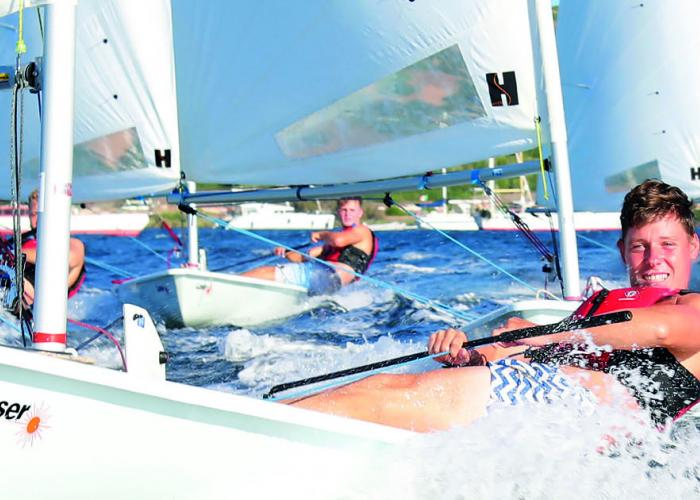Laser Racing in the mediteranean