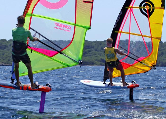Foiling windsurfing holidays in Menorca