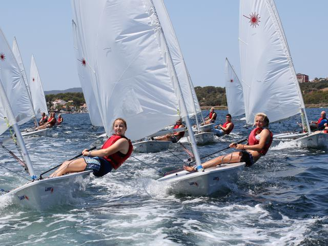 Laser Racing at Minorca Sailing