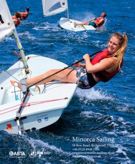 Minorca Sailing brochure ack cover 2018